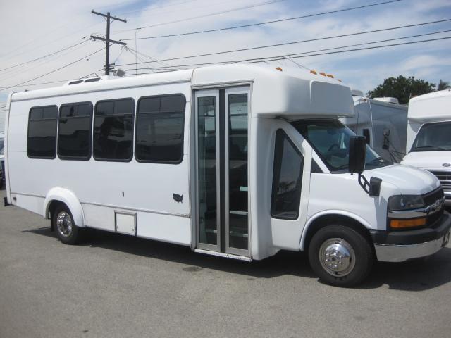 Chevy 4500 20 passenger charter shuttle coach bus for sale - Gas