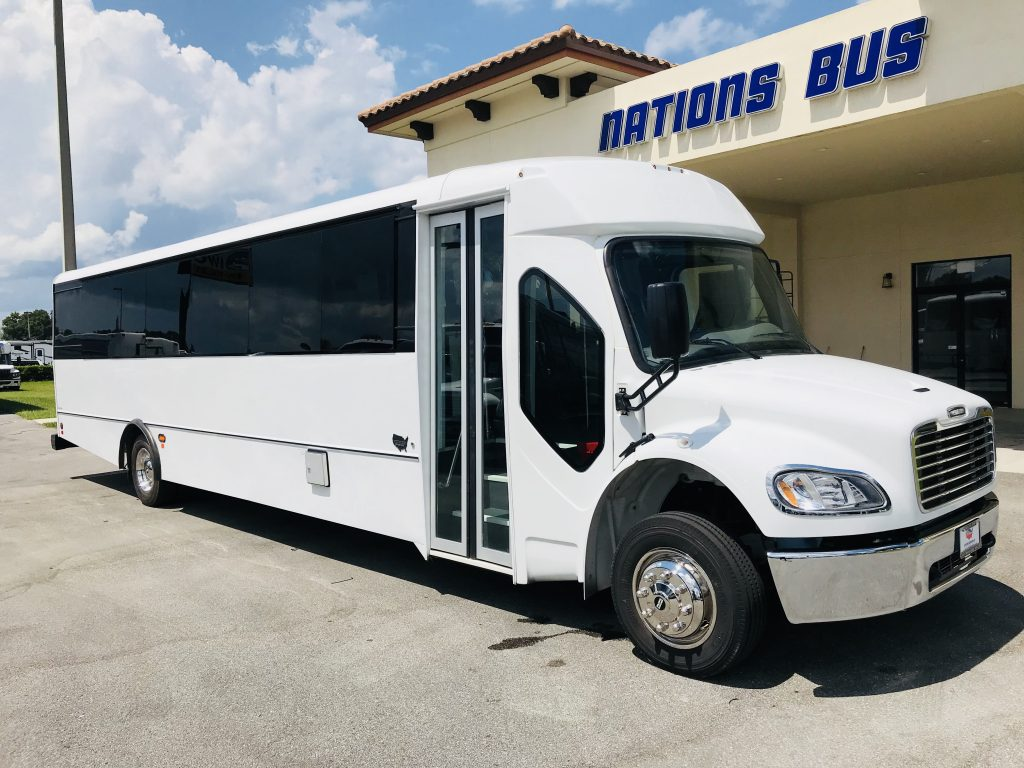 Freightliner M2 37 passenger charter shuttle coach bus for sale - Diesel
