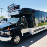 Chevy C5500 24 passenger charter shuttle coach bus for sale - Diesel 3