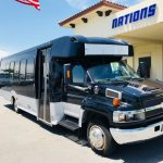 Chevy C5500 24 passenger charter shuttle coach bus for sale - Diesel 1