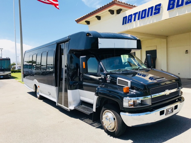 Chevy C5500 24 passenger charter shuttle coach bus for sale - Diesel