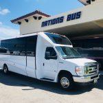 Ford E450 23 passenger charter shuttle coach bus for sale - Gas 1