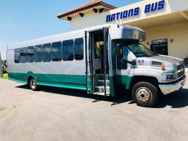 Chevy C5500 33 passenger charter shuttle coach bus for sale - Diesel