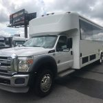 Ford F550 28 passenger charter shuttle coach bus for sale - Diesel 3