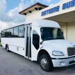Freightliner M2 33 passenger charter shuttle coach bus for sale - Diesel 1