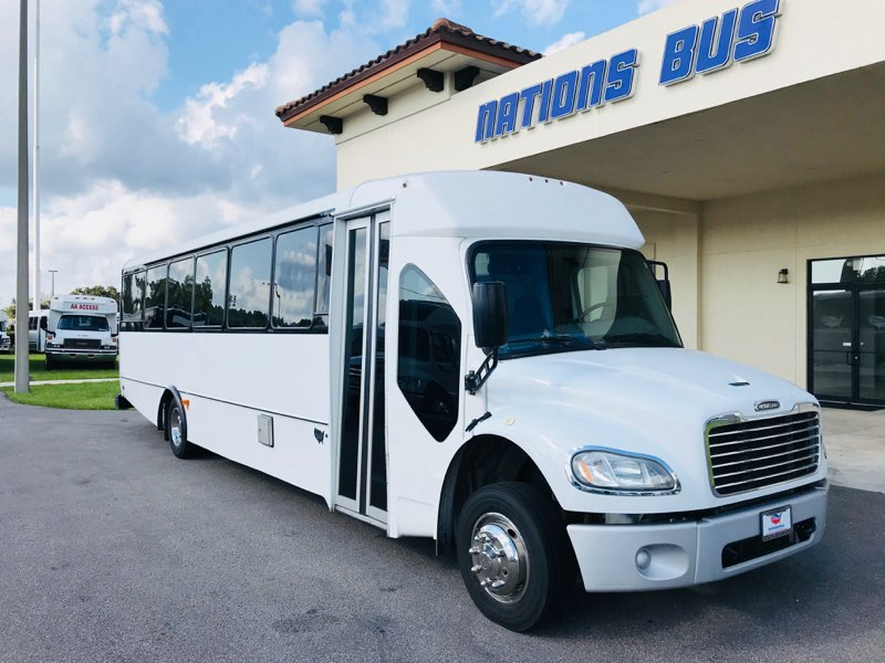 Freightliner M2 33 passenger charter shuttle coach bus for sale - Diesel