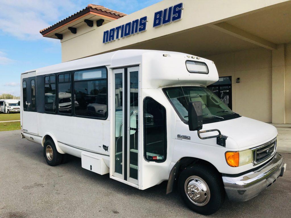 Ford E450 22 passenger charter shuttle coach bus for sale - Diesel