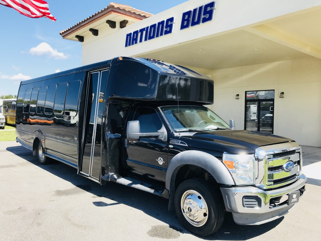 Ford F550 30 passenger charter shuttle coach bus for sale - Diesel