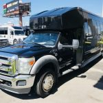 Ford F550 30 passenger charter shuttle coach bus for sale - Diesel 3