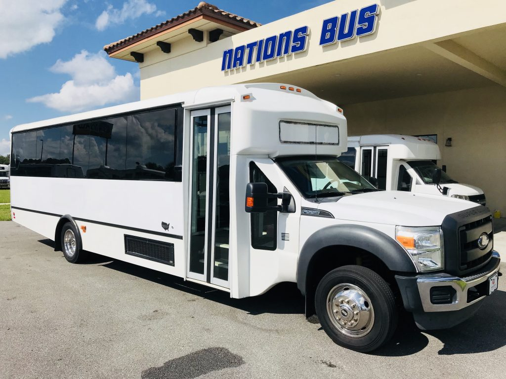 Ford F550 29 passenger charter shuttle coach bus for sale - Diesel