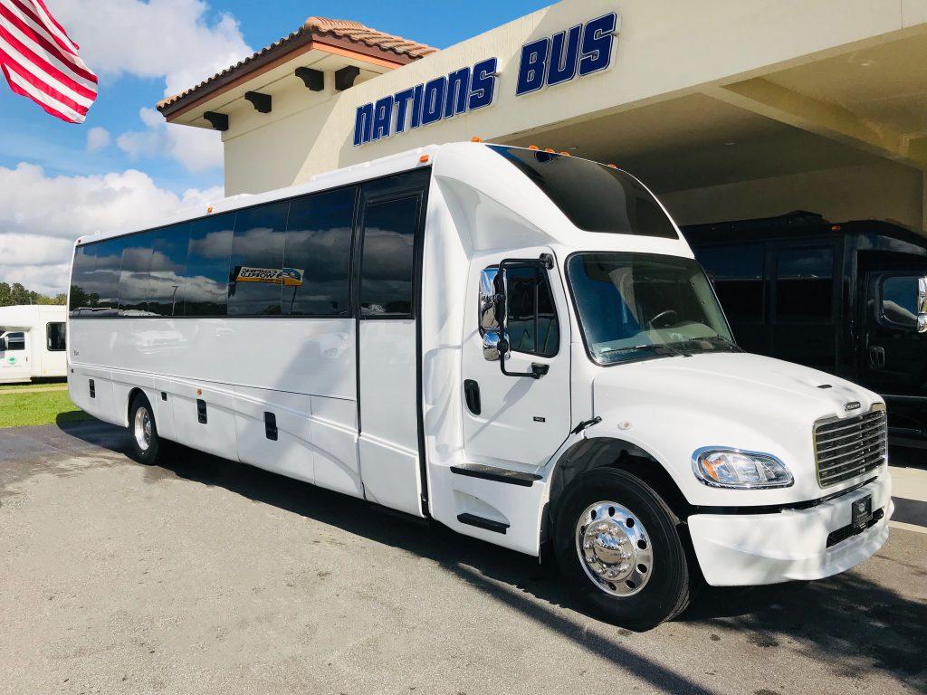 Freightliner M2 40 passenger charter shuttle coach bus for sale - Diesel