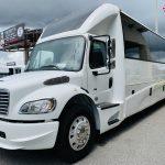 Freightliner M2 40 passenger charter shuttle coach bus for sale - Diesel 7