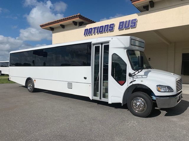 Freightliner M2 41 passenger charter shuttle coach bus for sale - Diesel