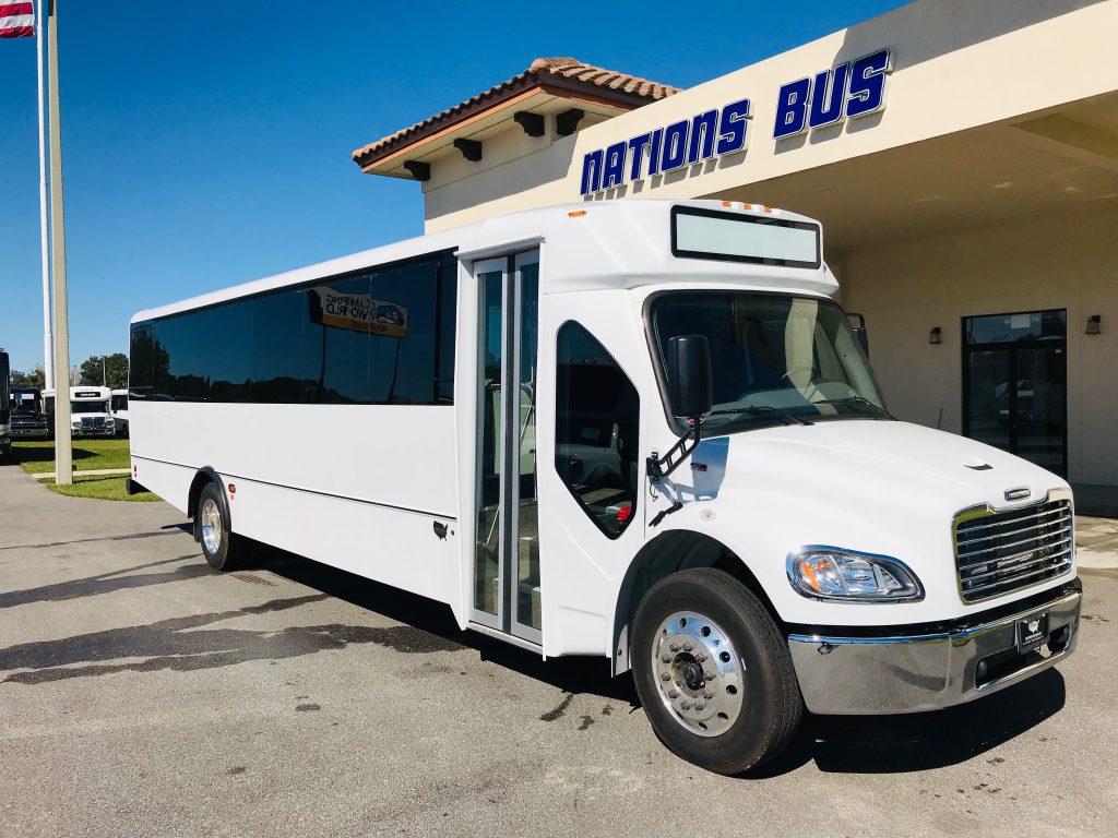 Freightliner S2C 37 passenger charter shuttle coach bus for sale - Diesel