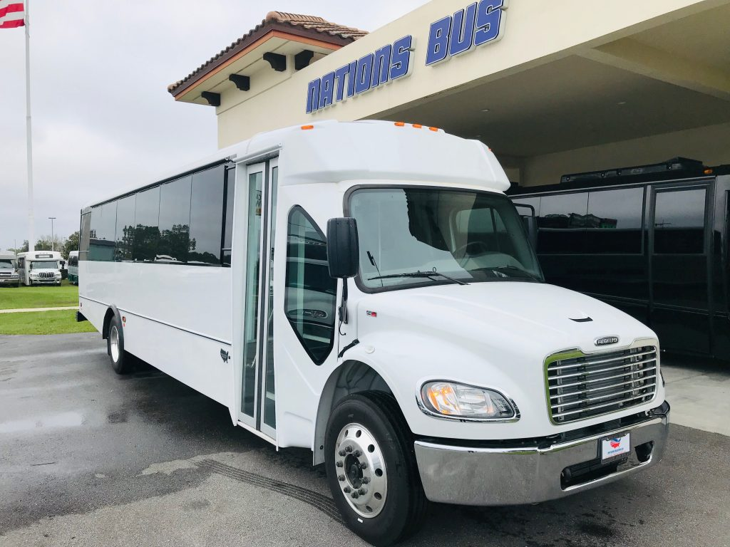 Freightliner S2C 37 passenger charter shuttle coach bus for sale - Diesel