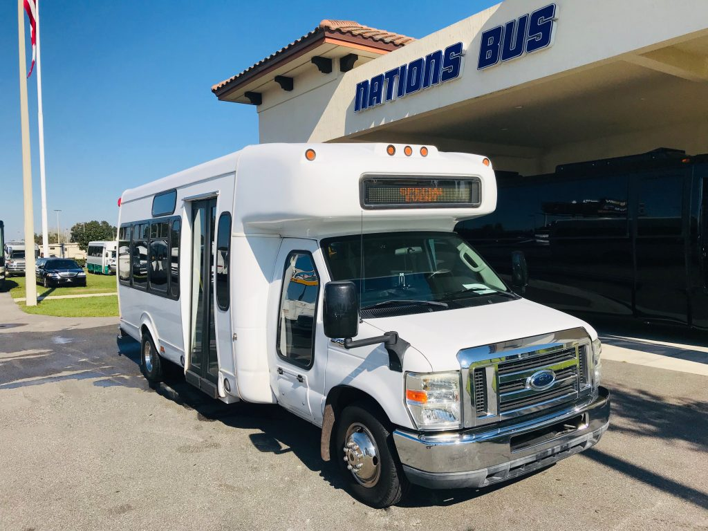 Ford E450 20 passenger charter shuttle coach bus for sale - Gas