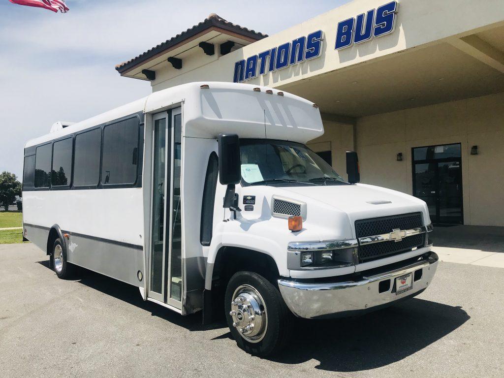 Chevy C4500 25 passenger charter shuttle coach bus for sale - Diesel