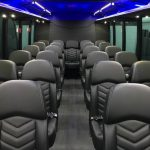 Ford F550 27 passenger charter shuttle coach bus for sale - Diesel 6