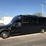 Ford F550 27 passenger charter shuttle coach bus for sale - Diesel 3
