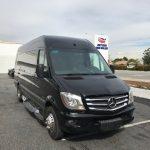 Mercedes 3500 14 passenger charter shuttle coach bus for sale - Diesel 3