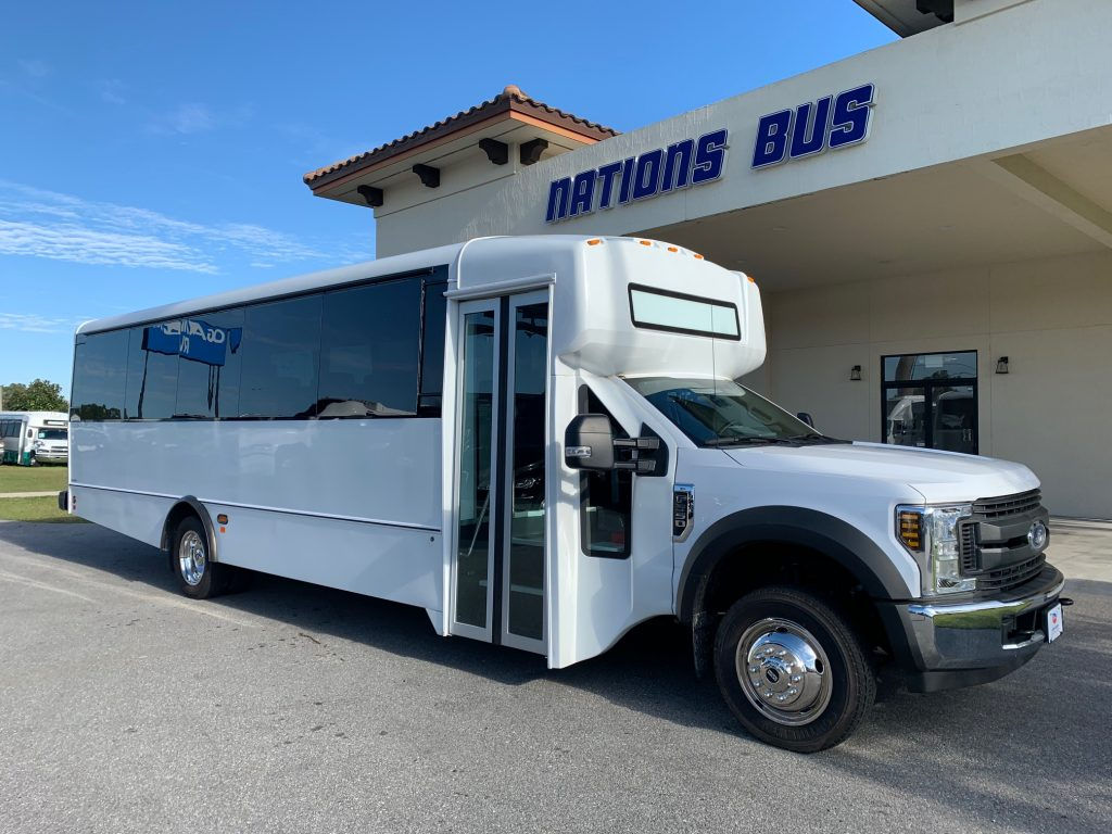 Ford F550 29 passenger charter shuttle coach bus for sale - Gas