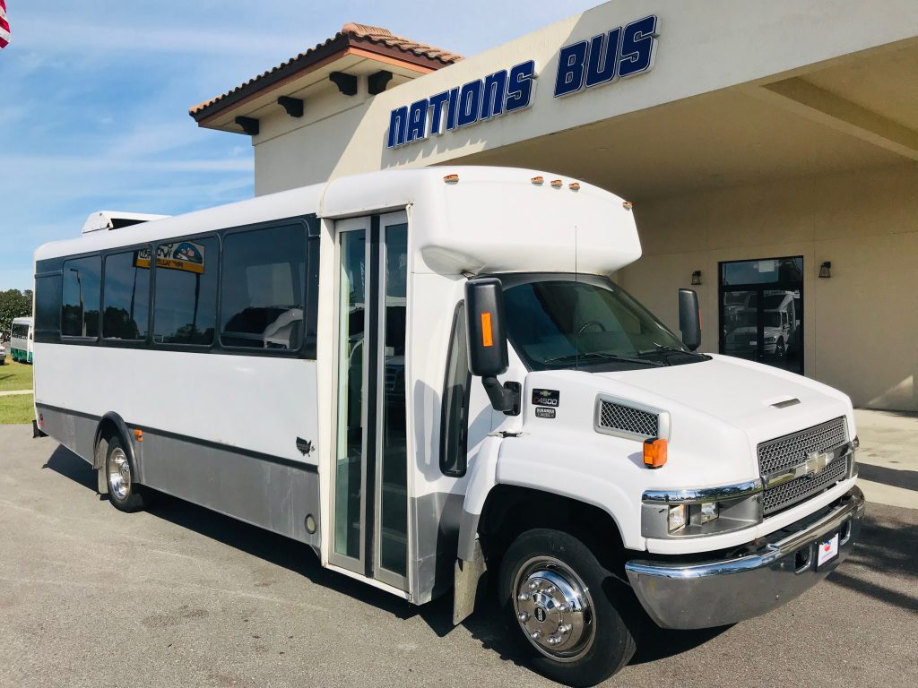 Chevy C4500 25 passenger charter shuttle coach bus for sale - Diesel
