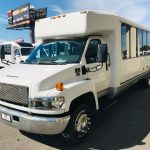Chevy C5500 28 passenger charter shuttle coach bus for sale - Diesel 3
