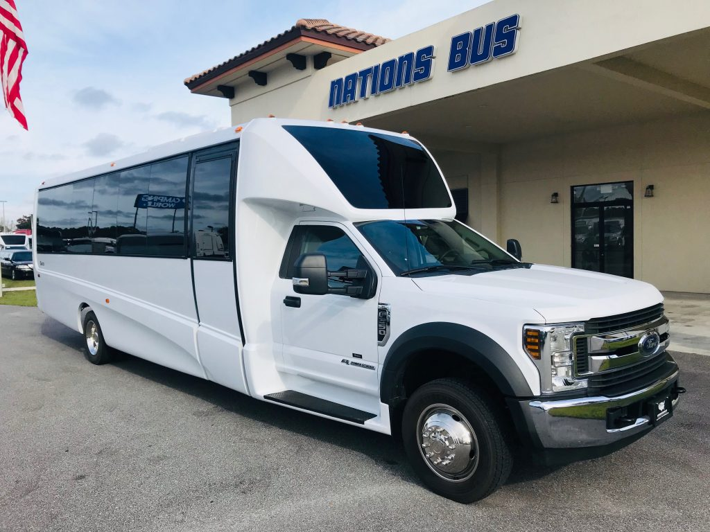 Ford F550 27 passenger charter shuttle coach bus for sale - Diesel