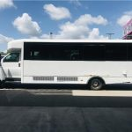 GMC C5500 32 passenger charter shuttle coach bus for sale - Diesel 6