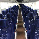 Volvo 56 passenger charter shuttle coach bus for sale - Diesel 6