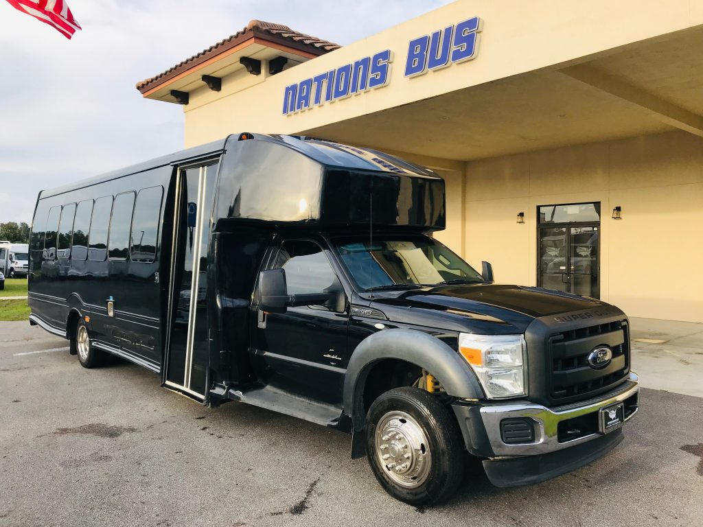 Ford F550 30 passenger charter shuttle coach bus for sale - Diesel