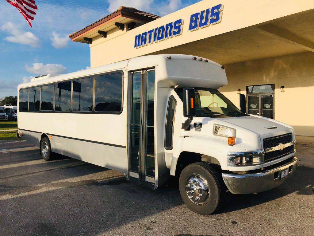 Chevy C5500 32 passenger charter shuttle coach bus for sale - Diesel