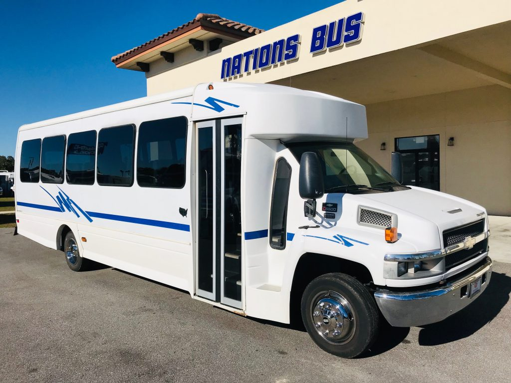 Chevy C5500 33 passenger charter shuttle coach bus for sale - Diesel