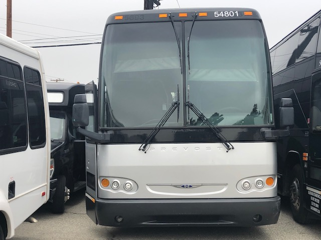 Prevost 54 passenger charter shuttle coach bus for sale - Diesel
