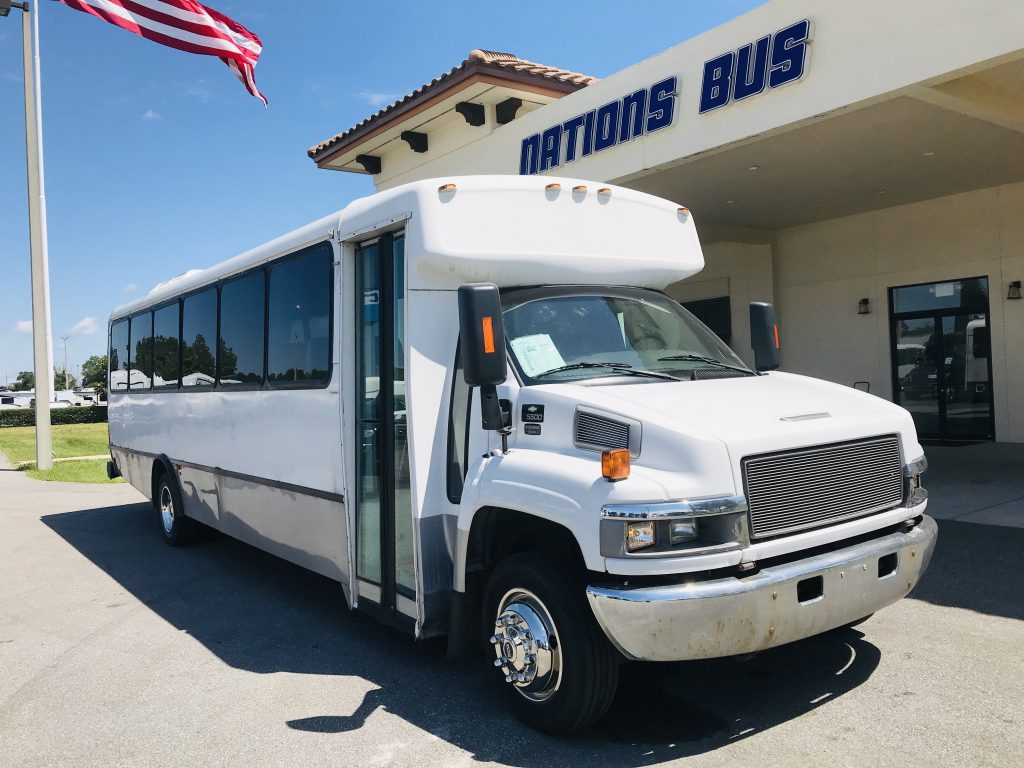 Chevy C5500 32 passenger charter shuttle coach bus for sale - Diesel