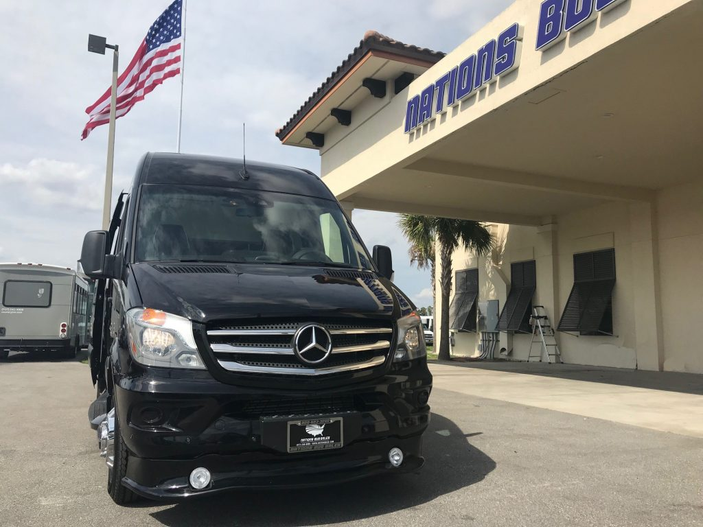 Mercedes-Benz Sprinter 9 passenger charter shuttle coach bus for sale - Diesel