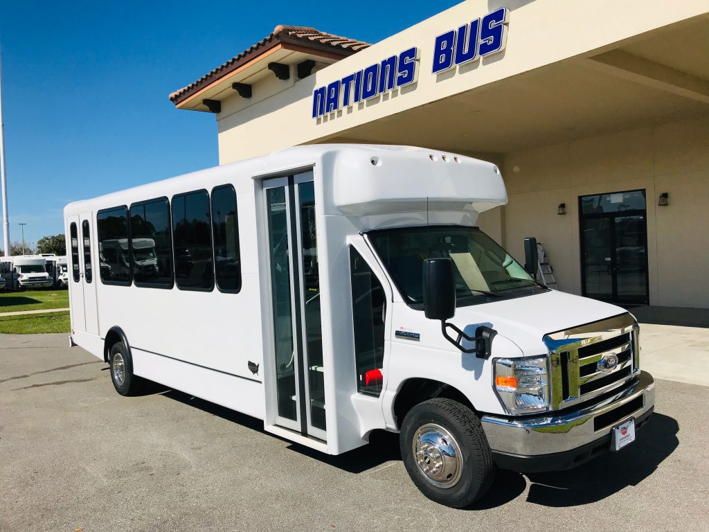 Ford E-450 24 passenger charter shuttle coach bus for sale - Gas