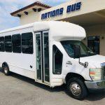 Ford E-450 25 passenger charter shuttle coach bus for sale - Gas 1