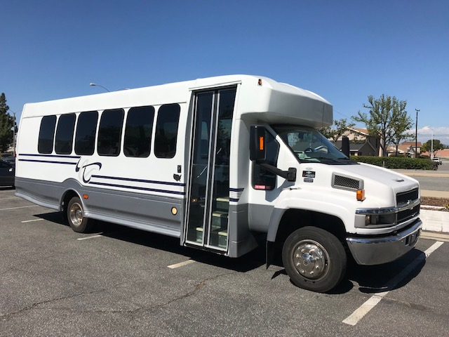 Chevy 4500 25 passenger charter shuttle coach bus for sale - Gas