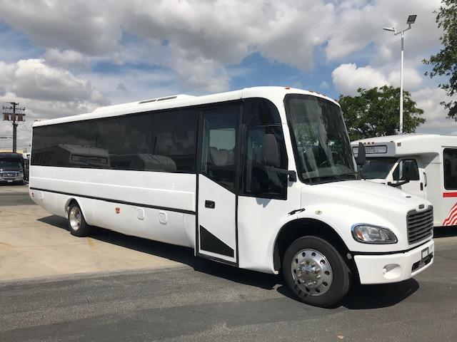 Freightliner M2 30 passenger charter shuttle coach bus for sale - Diesel