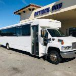 GMC C5500 40 passenger charter shuttle coach bus for sale - Diesel 1