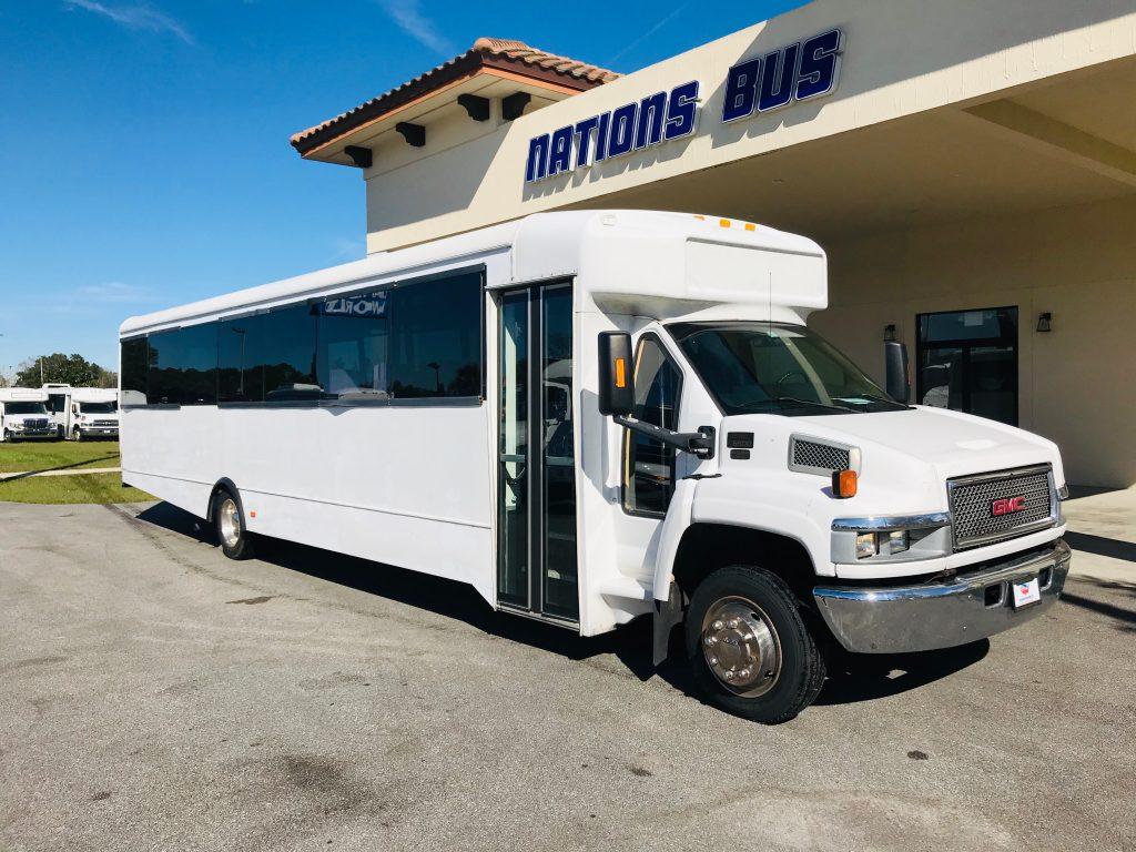 GMC C5500 40 passenger charter shuttle coach bus for sale - Diesel
