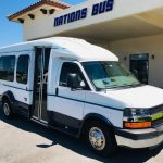 Chevy C3500 14 passenger charter shuttle coach bus for sale - Gas 1