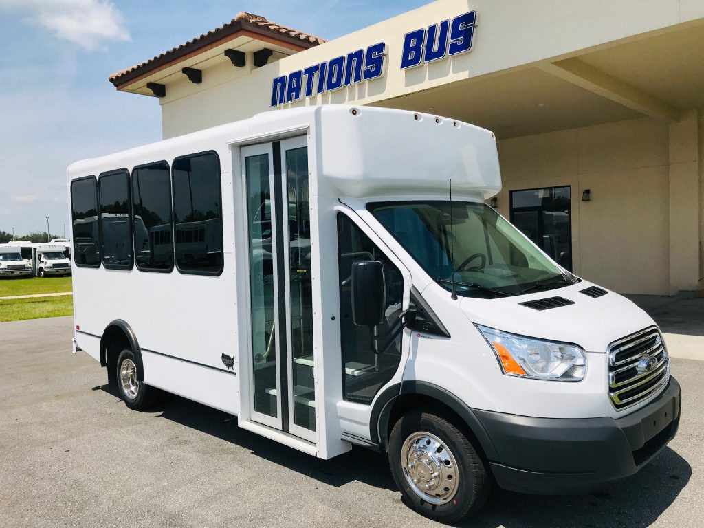 Ford Transit 14 passenger charter shuttle coach bus for sale - Gas