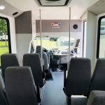 Ford Transit 14 passenger charter shuttle coach bus for sale - Gas 7