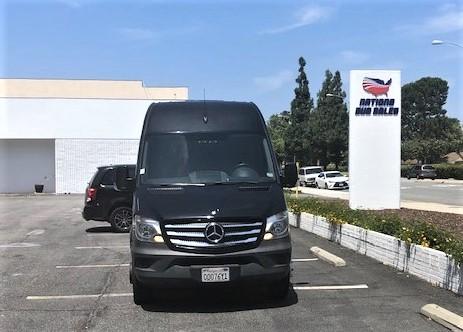 Mercedes 3500 14 passenger charter shuttle coach bus for sale - Diesel