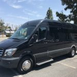 Mercedes 3500 14 passenger charter shuttle coach bus for sale - Diesel 3
