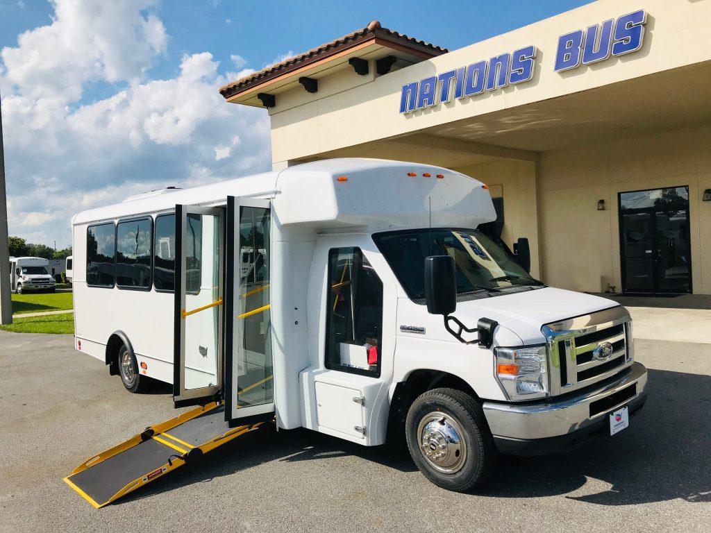 Ford E450 20 passenger charter shuttle coach bus for sale - Gas