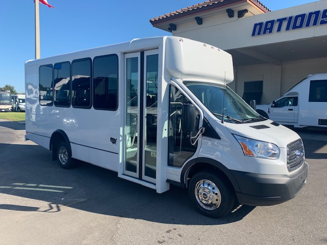 Ford Transit 350 14 passenger charter shuttle coach bus for sale - Gas
