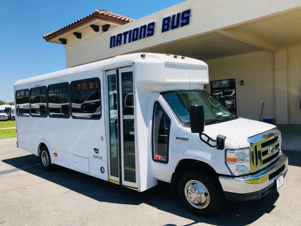 Ford E-450 25 passenger charter shuttle coach bus for sale - Gas